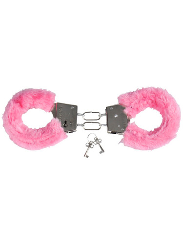 Sexy Valentines Day Pink Fuzzy Furry Lovers Handcuffs