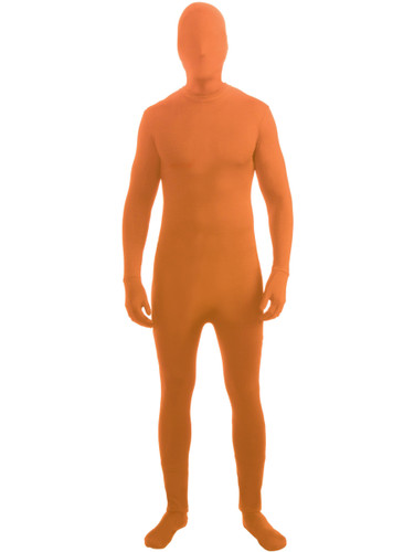 Neon Orange Adult Disappearing Man Professional Quality Full Body Zentai Suit
