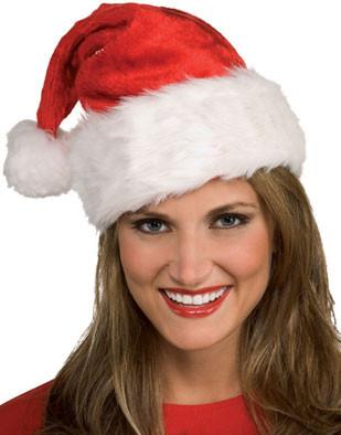 Deluxe Plush Fur Trimmed Regal Santa Claus Christmas Hat