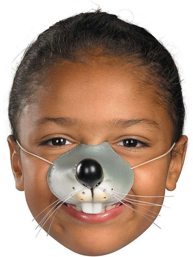 Child Rubber Costume Accessory Mouse Rat Zoo Animal Nose Elastic Band Mask