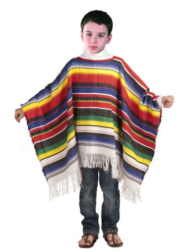 Child's Cinco do Mayo Fiesta Striped Mexican Costume Poncho