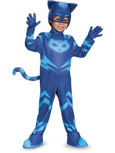 Child's Boys Deluxe Catboy PJ Masks Superhero Costume