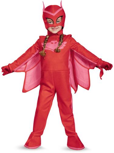 Child's Girls Deluxe Owlette PJ Masks Superhero Costume
