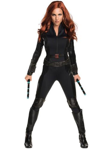 Adult's Womens Sexy Captain America Civil War Black Widow Costume