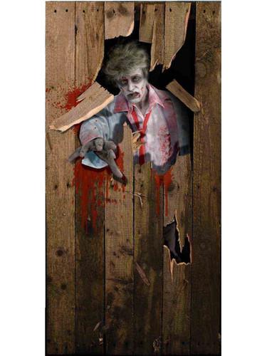 Zombie Halloween Decoration Door Breaker Cover Decal