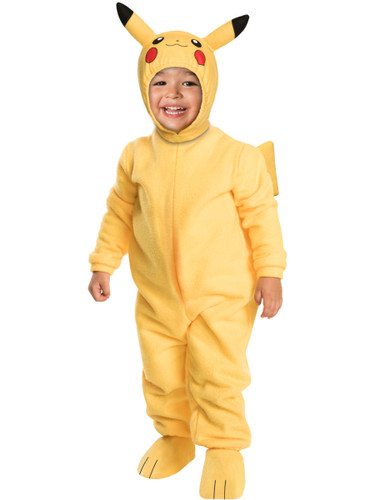 Child's Toddlers Pokemon Pikachu Romper With Headpiece Costume