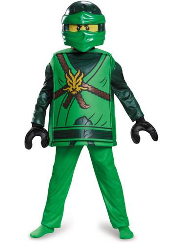 Child's Boys Deluxe LEGO® Ninjago Green Ninja Elemental Warrior Lloyd Costume
