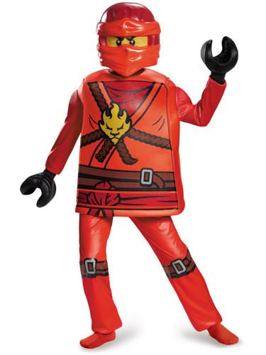 Child's Boys Deluxe LEGO® Ninjago Red Ninja Fire Warrior Kai Costume