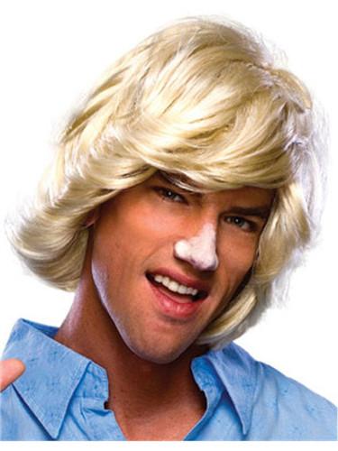 Adult Mens Blonde 70s 80s Surfer Dude Beach Bum Wig