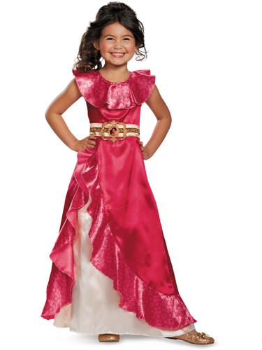 Child's Girls Classic Disney Princess Elena Of Avalor Ball Gown Dress Costume