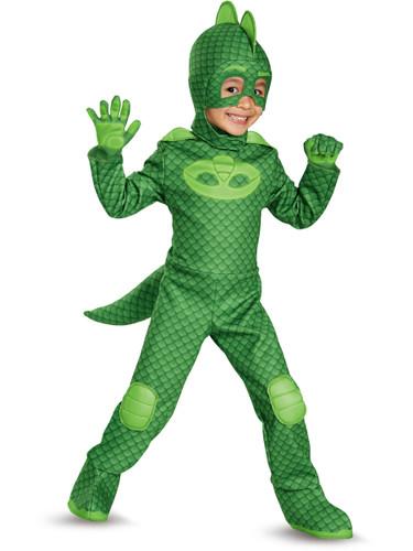 Child's Boys Deluxe Gekko PJ Masks Superhero Costume