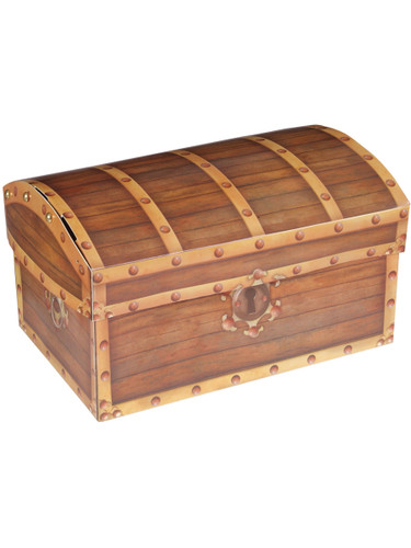 New Folding Pirate's Treasure Chest Party Storage Box