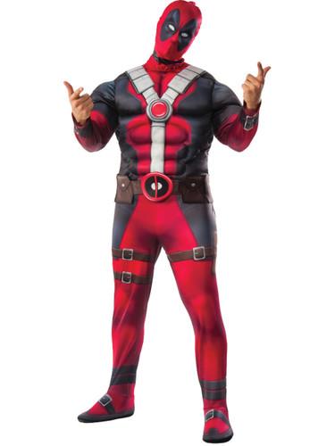 Adult's Mens Marvel Deadpool Anit-Hero Padded Muscle Chest Costume