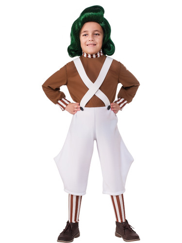 Child Boys Classic Willy Wonka And The Chocolate Factory Oompa Loompa Costume