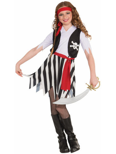 Child Girls Buccaneer Pirate Swashbuckler Jack Sparrow Costume