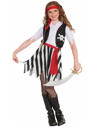 Child Girls Buccaneer Pirate Swashbuckler Jack Sparrow Costume