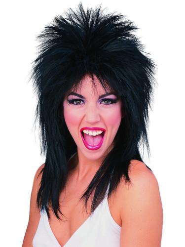 Mens Womens Black Joan Jet 80s Super Star Costume Wig