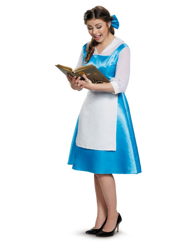 Adult's Womens Disney Princess Beauty And The Beast Belle Blue Dress Costume