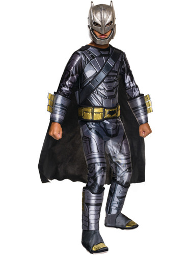Child's Deluxe Armored Batman V Superman Dawn Of Justice Padded Jumpsuit Costume