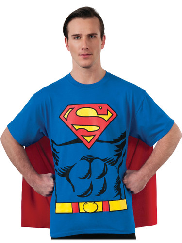 Superman The Man Of Steel Adult's Costume T-shirt & Cape