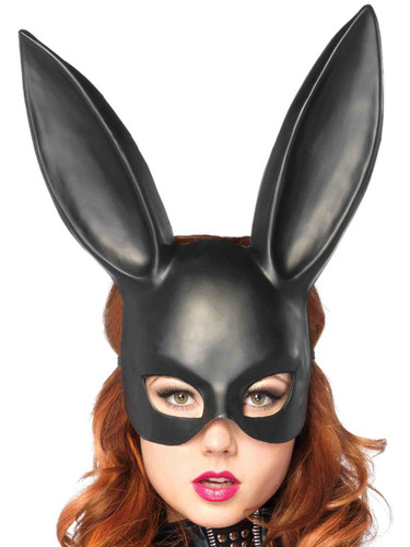 Adults Black Masquerade Bunny Rabbit Pet Animal Mask Costume Accessory