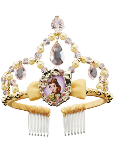 Child's Girls Disney Princess Belle Beauty And The Beast Tiara Costume Accessory
