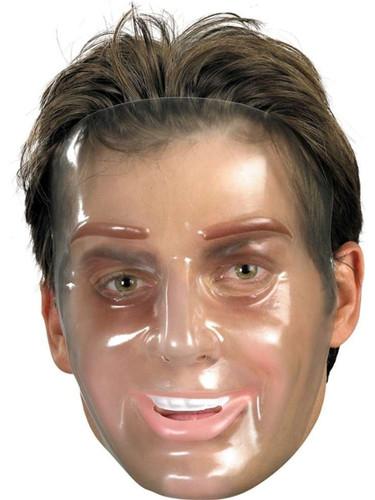 Adult's Transparent Man Halloween Costume Face Mask Facemask