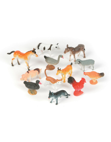 "Lot 144 Assorted 3"" Domestic Farm Animal PVC Figurines Decorations"