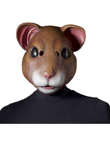 Adult's Pet Animal Hamster Vinyl Latex Full Mask Costume Accessory