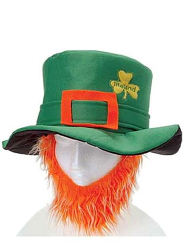 St Patricks Day Costume Leprechaun Hat And Orange Beard