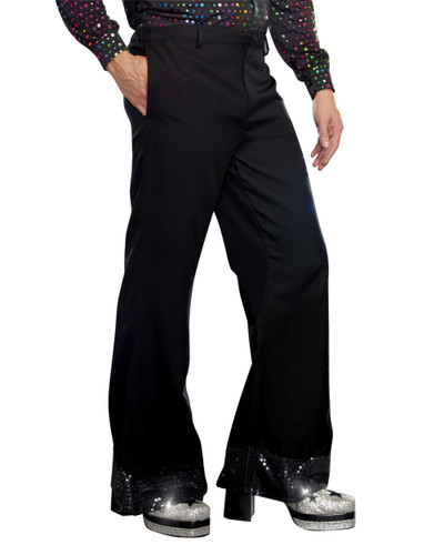 Dreamgirl Mens Black Mens Disco Pants Costume