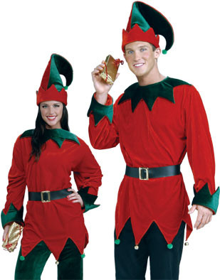 Unisex Santa's Helper Elf Economy Christmas Costume