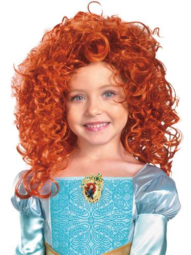 Disney Brave Merida Child's Bright Orange Long Curly Costume Dress Up Wig