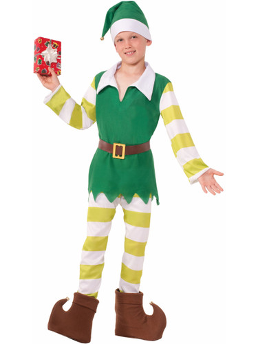 Boys Christmas Santas Helper Classic Worker Elf Costume