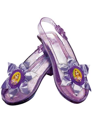 Purple Disney Princess Rapunzel Costume Child Sparkle Glitter Shoe Slippers