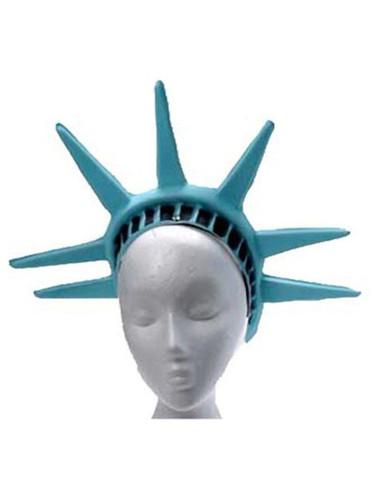 New Patriotic Statue of Liberty Costume Green Patel Crown Headpiece