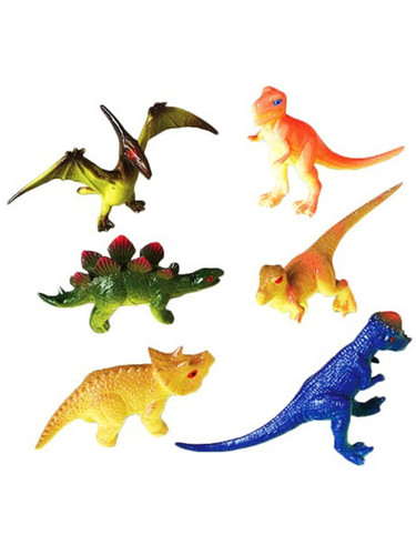 "Lot of 12 3"" Decor Plastic Toy Jurassic Dinosaur Figures Set"
