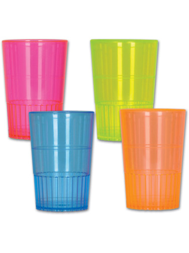 Neon Shot Glass Shotglass Cups Set Of 8 Bar Decoration