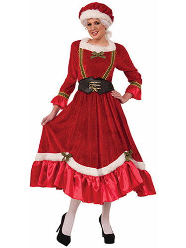 Womens Sexy Mrs Santa Claus Red Dress Christmas Holiday Costume