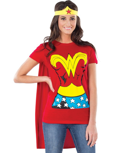 Adult Womens DC Justice League Wonder Woman T-Shirt Costume Top