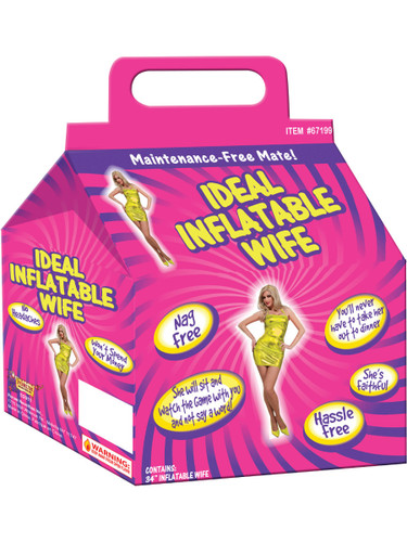 Bachelor Party Gag Gift Ideal Inflatable Wife Nag Free And Faithful Decoration