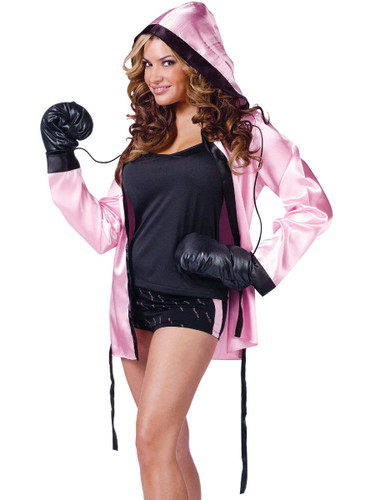 Adult's Womens Sexy Instant Knockout Ali Boxing Robes Costume
