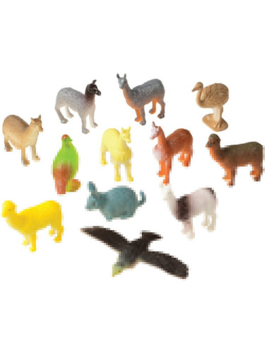 Set Of 12 Mini South American Animals Diorama Figures Toys