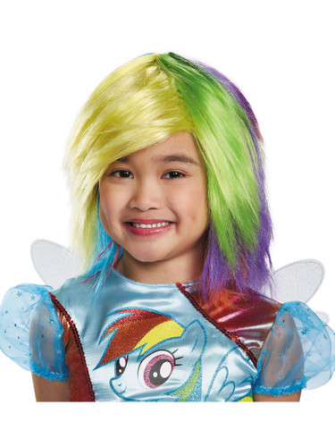 Child's Girls My Little Pony Rainbow Dash Wig Costume Accessory