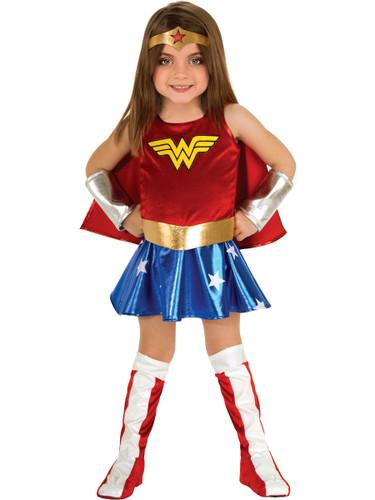 Childs Girls Wonder Woman Super Hero Toddler Costume Set