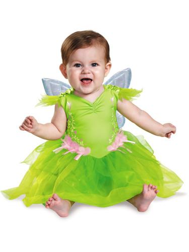 Child Girls Deluxe Disney Peter Pan Tinker Bell Fairy Baby Infant Dress Costume