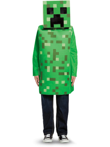 Child's Boys Classic Minecraft Creeper Mob Mine Craft Mojang Costume