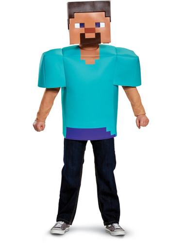 Child's Boys Classic Minecraft Steve Mine Craft Mojang Costume