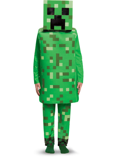 Child's Boys Deluxe Minecraft Creeper Mob Mine Craft Mojang Costume