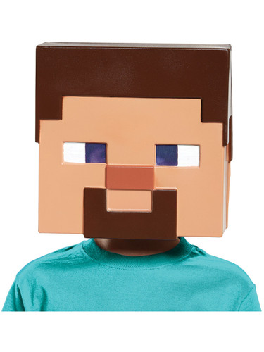 Child's Minecraft Steve Vacuform Mask Mojang Costume Accessory